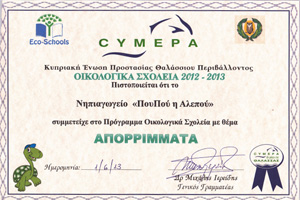 CYMEPA Οικολογικά Σχολεία 2012-13